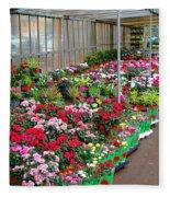 A French Flower Market Fleece Blanket