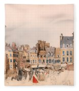 A French Market Place Fleece Blanket