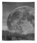 A Friend At Night Fleece Blanket