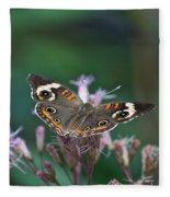 A Friendly Butterfly Smile Fleece Blanket