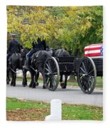 A Funeral In Arlington Fleece Blanket