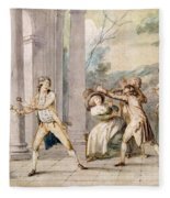 A Game Of Blind Mans Buff, C.late C18th Fleece Blanket