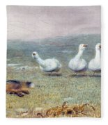 A Game Of Fox And Geese, 1868 Fleece Blanket