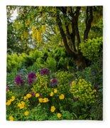 A Garden Of Color Fleece Blanket