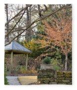 A Garden Walk In February Fleece Blanket