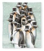 A Gathering In The Snow Fleece Blanket