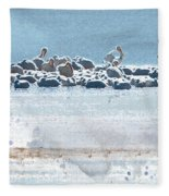 A Gathering Of Pelicans Fleece Blanket