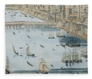 A General View Of The City Of London And The River Thames Fleece Blanket