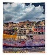 A Genesis Sunrise Over The Old City Fleece Blanket