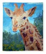 A Giraffe For Ori Fleece Blanket