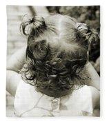 A Girl And Her Curls Fleece Blanket