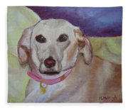 A Girl Named Otis Fleece Blanket