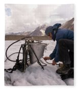 A Glaciologist Tinkers With A Steam Fleece Blanket