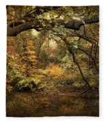 A Glimpse Of Autumn Fleece Blanket