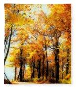 A Golden Day Fleece Blanket
