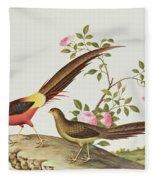 A Golden Pheasant Fleece Blanket
