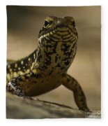 A Golden Skink Fleece Blanket
