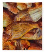 A Good Catch Of Fish Fleece Blanket