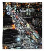A Gothic Night In New Orleans On Canal Street Fleece Blanket