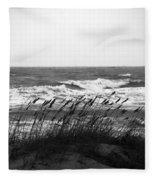 A Gray November Day At The Beach Fleece Blanket