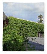 A Green House Fleece Blanket