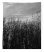 A Grey Point Of View Fleece Blanket