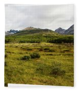 A Group Of Hikers Walk Fleece Blanket
