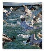 A Group Of Pelicans Fleece Blanket