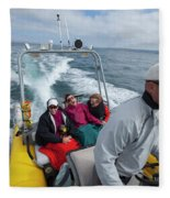 A Group Of Young Women By Guided Fleece Blanket