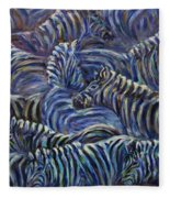 A Group Of Zebras Fleece Blanket