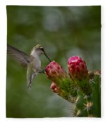 A Happy Little Hummer  Fleece Blanket