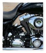A Harley In Arlington Fleece Blanket