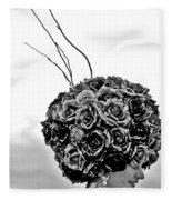 A Hat Of Roses Fleece Blanket