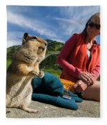 A Hiker Makes Friends With The Local Fleece Blanket