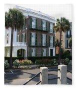 A Historic Home On The Battery - Charleston Fleece Blanket