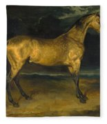 A Horse Frightened By Lightning Fleece Blanket
