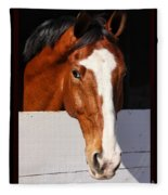 A Horse Is A Horse Of Course By Diana Sainz Fleece Blanket