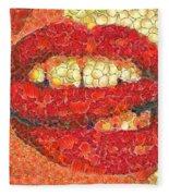 A Hot Lips Fleece Blanket