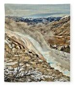 A Hot Spring Runs Through It Fleece Blanket