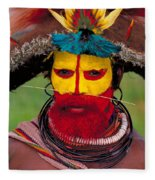 A Huli Man Fleece Blanket
