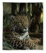 A Jaguar's Gaze Fleece Blanket
