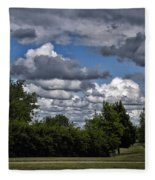 A July Cold Front Rolling By Fleece Blanket