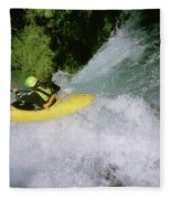 A Kayaker Running A Beautiful Spirit Fleece Blanket