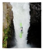 A Kayaker Takes The Plunge On Huge Fleece Blanket
