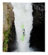A Kayaker Takes The Plunge On Huge Fleece Blanket