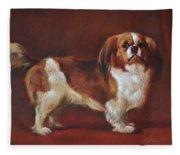 A King Charles Spaniel Fleece Blanket