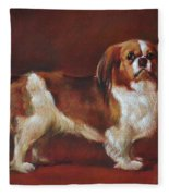 A King Charles Spaniel Fleece Blanket