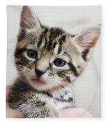 A Kittens Helping Hand Fleece Blanket