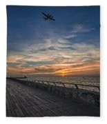 a kodak moment at the Tel Aviv port Fleece Blanket