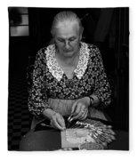 A Lacemaker In Bruges Fleece Blanket